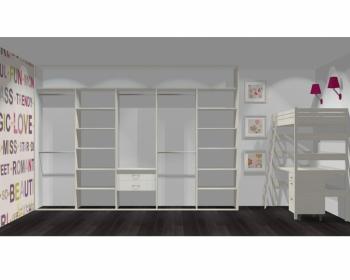 Wnętrze szafy szerokość 350 - 400 cm  3540w5x5