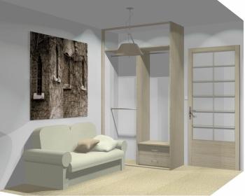 Wnętrze szafy szerokość 140 - 160 cm 1416w7x2