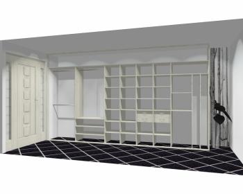 Wnętrze szafy szerokość 400 - 450 cm  4045w22x5