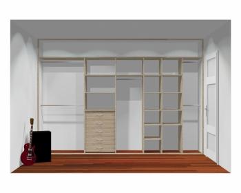 Wnętrze szafy szerokość 350 - 400 cm  3540w7x4