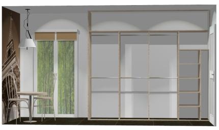 Wnętrze szafy szerokość 271 - 310 cm  2731w43x4
