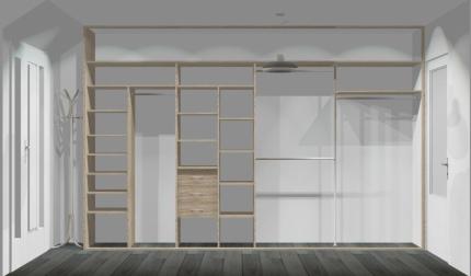 Wnętrze szafy szerokość 350 - 400 cm  3540w2x4