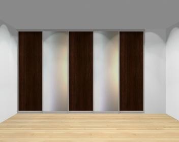 Drzwi przesuwne szerokość 351 - 400 cm 3540d6x5
