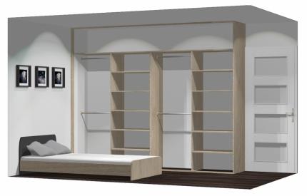 Wnętrze szafy szerokość 271 - 310 cm  2731w29x4