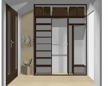Wnętrze szafy szerokość 181 - 210 cm 1821w36x3
