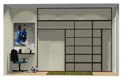 Wnętrze szafy szerokość 271 - 310 cm  2731w39x4
