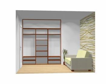 Wnętrze szafy szerokość 211 - 240 cm 2124w3x3