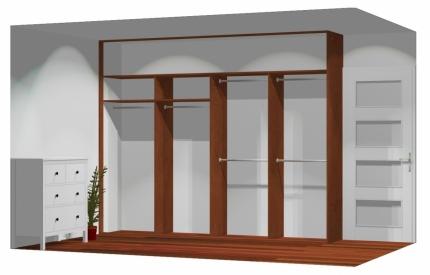 Wnętrze szafy szerokość 271 - 310 cm  2731w30x4