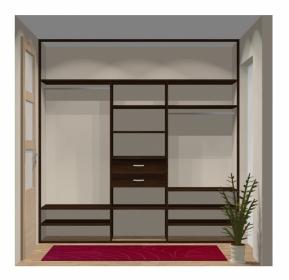 Wnętrze szafy szerokość 241 - 270 cm 2427w6x3