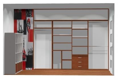Wnętrze szafy szerokość 271 - 310 cm  2731w32x4