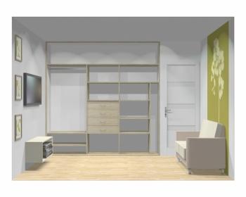 Wnętrze szafy szerokość 241 - 270 cm 2427w10x3