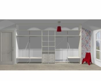 Wnętrze szafy szerokość 400 - 450 cm  4045w17x5