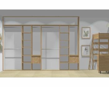 Wnętrze szafy szerokość 350 - 400 cm  3540w20x4