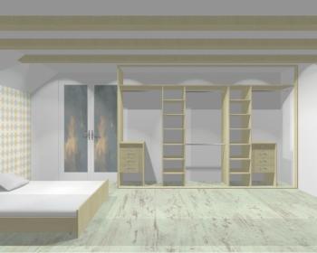 Wnętrze szafy szerokość 350 - 400 cm  3540w11x4