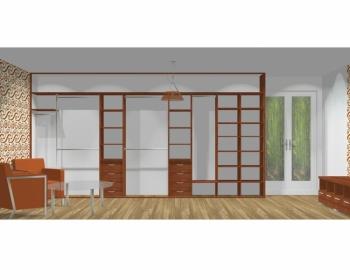 Wnętrze szafy szerokość 450 - 500 cm  4550w4x5
