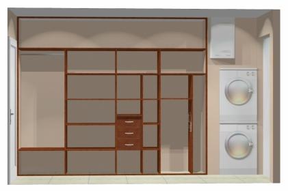 Wnętrze szafy szerokość 271 - 310 cm  2731w34x4