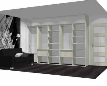 Wnętrze szafy szerokość 350 - 400 cm  3540w11x5