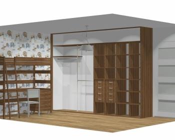 Wnętrze szafy szerokość 350 - 400 cm  3540w22x4