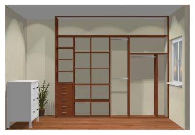 Wnętrze szafy szerokość 271 - 310 cm  2731w11x3