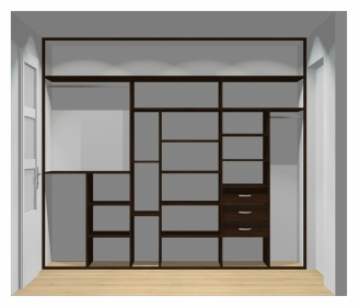 Wnętrze szafy szerokość 271 - 310 cm  2731w3x3
